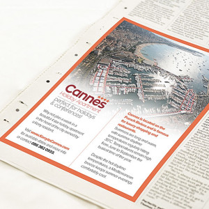 advert design for newspaper and magazines