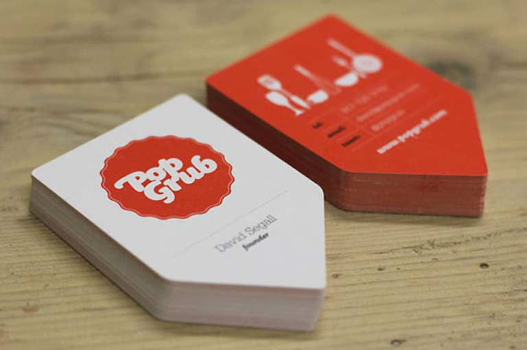 shaped business cards printing.ie